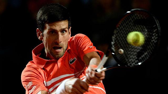Djokovic suda para ganar a Del Potro