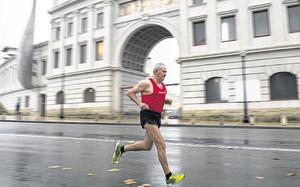 Domingo Catalán, en una de sus maratones