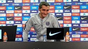 Ernesto Valverde comparece ante los medios de comunicación