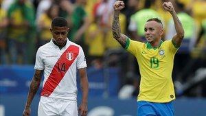 Everton está brillando en la Copa América y ya es la esperanza de la canarinha
