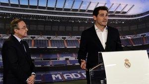 Florentino Pérez, el día del anuncio de la salida de Casillas del Real Madrid
