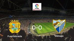 El CF Fuenlabrada y el Málaga firman las tablas tras empatar a cero