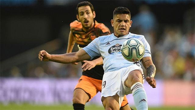 Gabriel Fernández da los tres puntos al Celta con un golazo de tacón