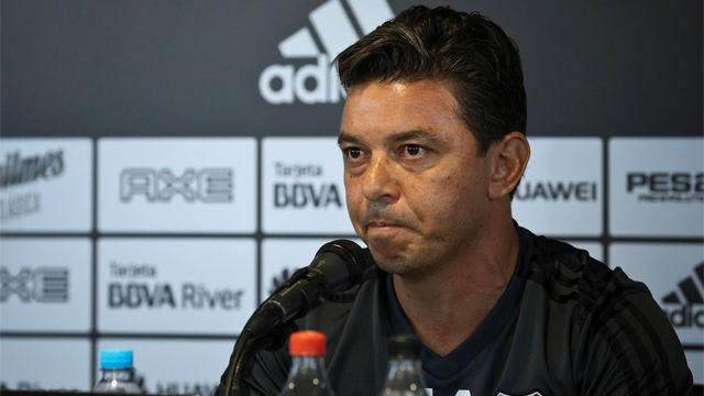 Gallardo, indignado con su sanción para el partido de vuelta