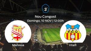 Jornada 12 de la Tercera División: previa del duelo CE Manresa - Vilafranca