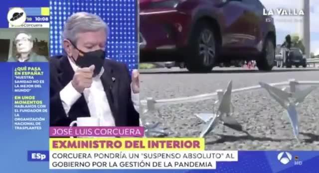 Jose Luis Corcuera sufre un amago de infarto en directo en Espejo Público