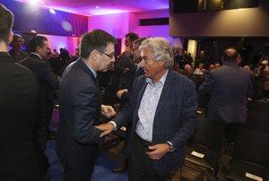 Josep Maria Casanovas departió con Josep Maria Bartomeu