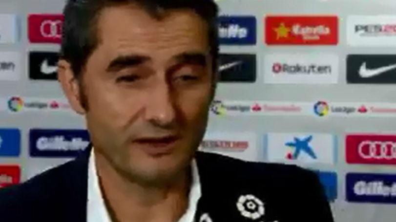 Las palabras de Valverde tras la victoria del Barça