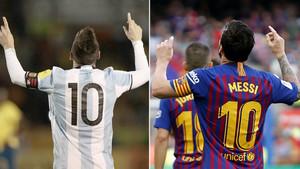 Leo Messi ha celebrado 48 hat tricks con Argentina (6) y con el Barça (42) hasta el momento