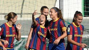 ¡Y llega el segundo del Barça, gol de Mariona Caldentey! (ES)