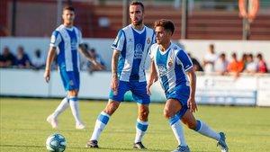 Los jugadores del Espanyol ultiman su puesta a punto