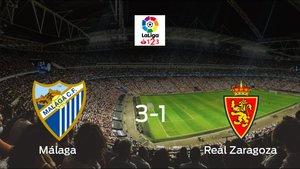 El Málaga se impone por 3-1 al Real Zaragoza