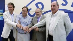 Manel Casanovas junto a Ramon Planas, Antonio Morales y German de la Cruz