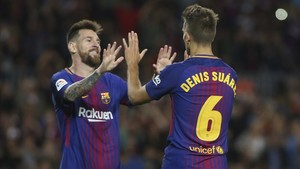 Messi y Denis Suárez se entienden muy bien sobre el césped
