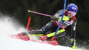 Mikaela Shiffrin, campeona en eslalon