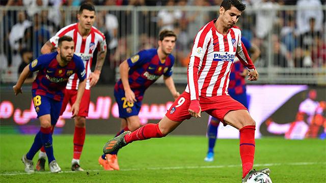 Morata no falló desde los once metros tras un claro penalti de Neto