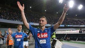 El Nápoles quiere mantener a Fabián en sus filas