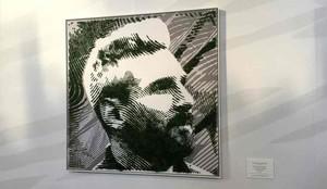 El retrato de Messi en musgo