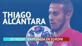 Thiago Alcántara ha realizado su mejor temporada en Europa