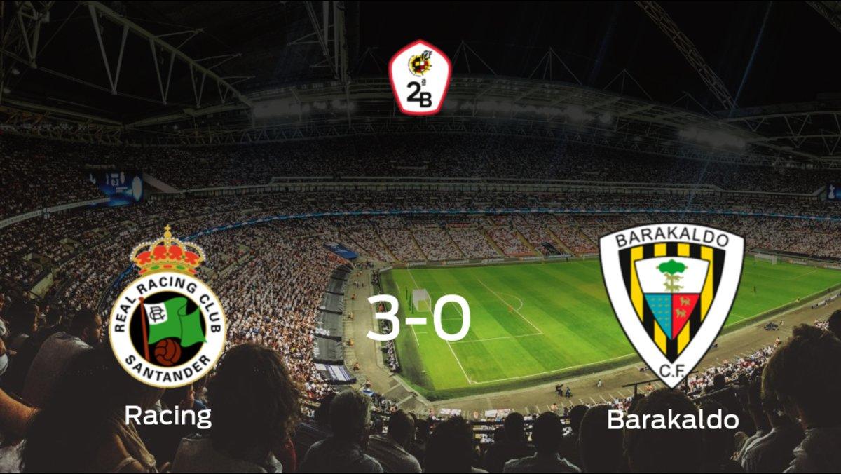 Triunfo para el Racing de Santander tras golear 3-0 al Barakaldo