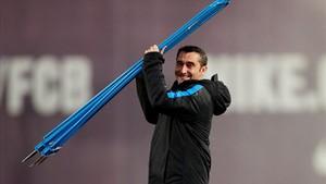 Valverde, en la última sesión