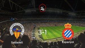 Victoria del Sabadell por 3-1 frente al Espanyol B