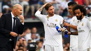 Zinedine Zidane lamentó el tropiezo del Madrid en su debut en el Bernabéu