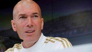 Zinedine Zidane ofrece este martes la rueda de prensa previa al Madrid-Valladolid