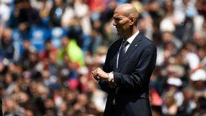 Zinedine Zidane vivió la última decepción de la temporada con el Real Madrid