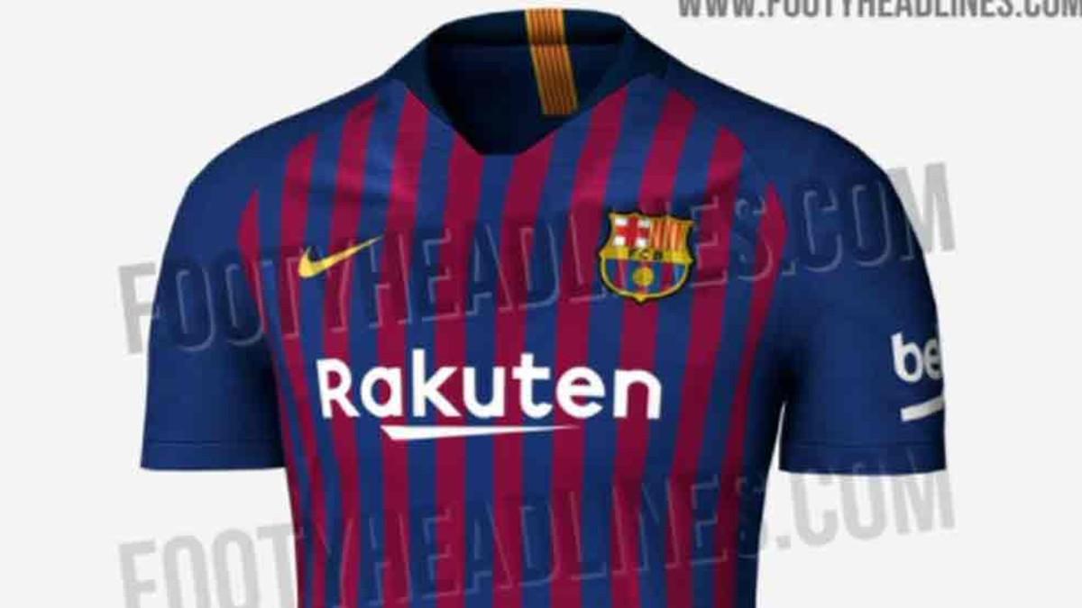 La primera equipación del FC Barcelona 2018   2019 6e2ea248b3d