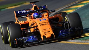Fernando Alonso sobre el McLaren.