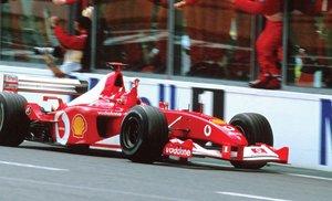 A subasta el monoplaza con el que Michael Schumacher se impuso en 2002