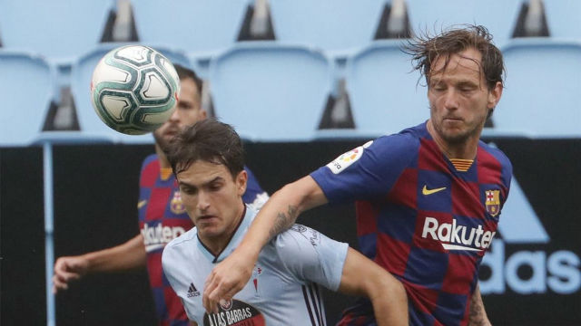 El 1x1 del Celta - Barça al descanso