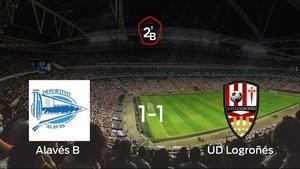 El Alavés B y el Logroñés se reparten los puntos tras empatar 1-1