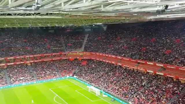 Así lucía San Mamés en un récord de asistencia histórico para el fútbol femenino
