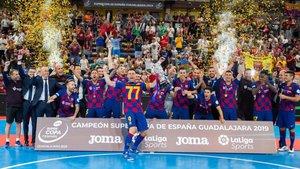 El Barça logró en Guadalajara la segunda Supercopa de su historia
