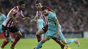 El FC Barcelona ganó al Athletic por 0-2 en la primera vuelta