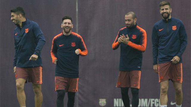 El FC Barcelona preparó el partido ante el Levante