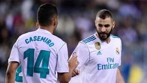 Casemiro ha igualado los goles de Benzema