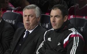 Clement, junto a Ancelotti en su etapa en el Real Madrid