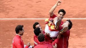 David Ferrer culminó la remontada de España frente Alemania tras un quinto partido de infarto