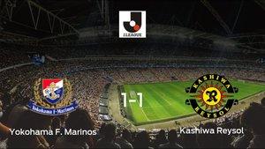 Empate entre el Yokohama F. Marinos y el Kashiwa Reysol (1-1)