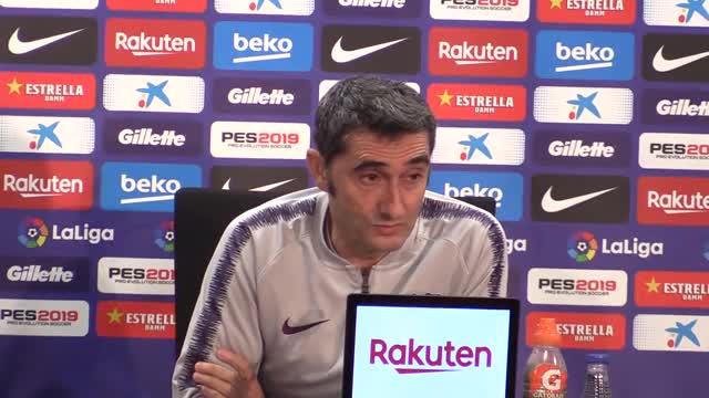 Ernesto Valverde habló en la rueda de prensa previa al partido del Espanyol