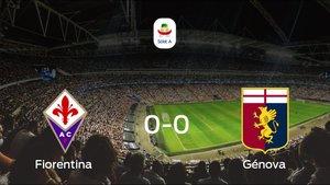 La Fiorentina y el Génova se repartieron los puntos tras un empate a 0