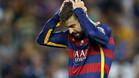 Gerard Piqué, después de ser expulsado ante el Athletic