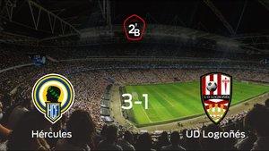El Hércules se adelanta en la semifinal tras ganar 3-1 al Logroñés