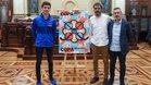 Ignacio Alabart, Edu castro y Toni Miró, en el sorteo de La Coruña