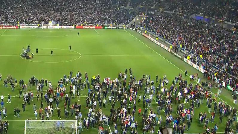 Incidentes antes del Olympique de Lyon - Besiktas