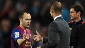 Iniesta y Guardiola han mantenido siempre una buena relación