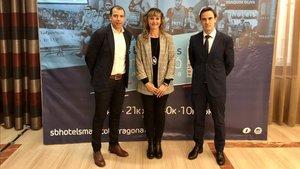 Jordi Artiga, María José López y Juanan Fernández en la presentación de la XX edición Marató Tarragona